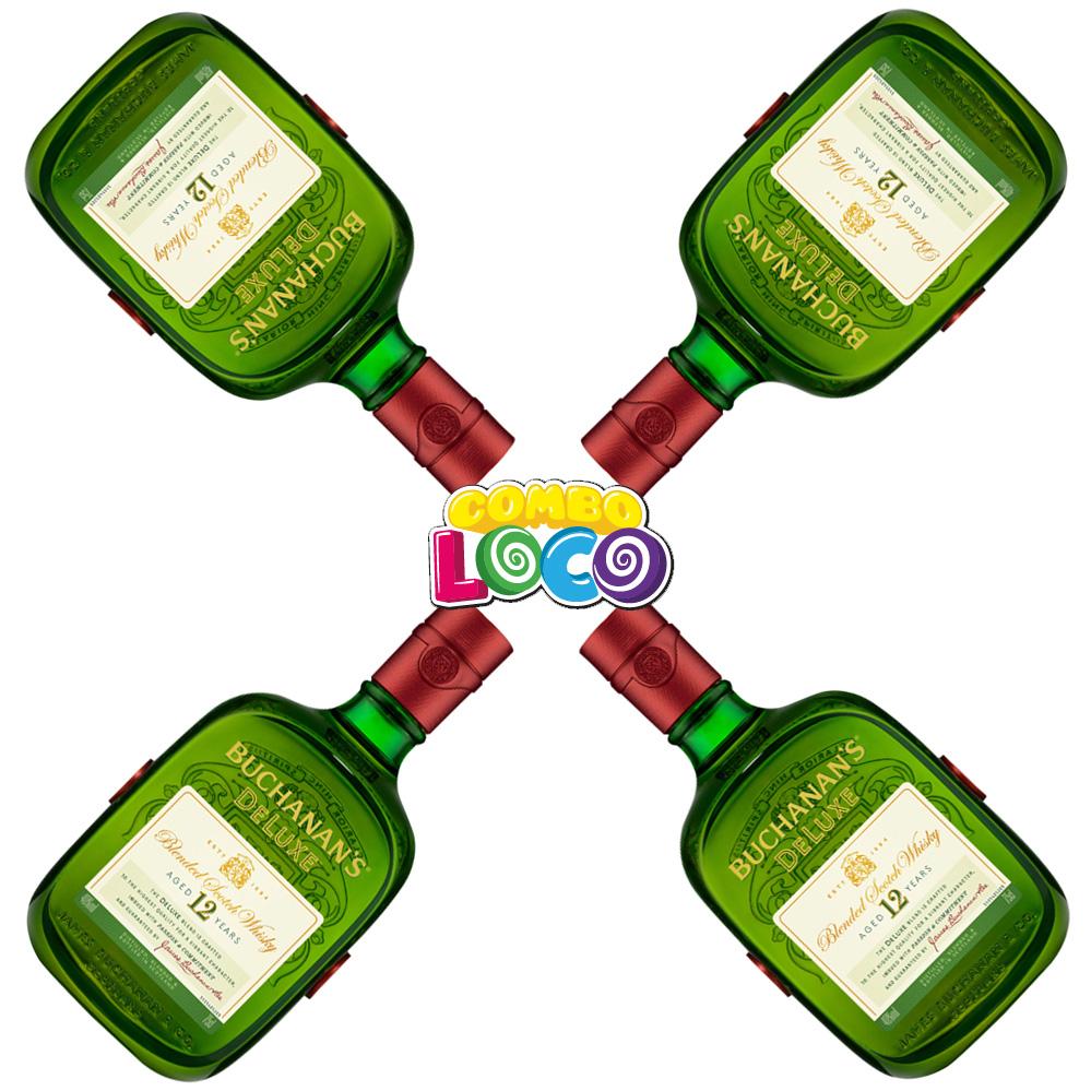 HEB: 4 Whisky Buchanans 12 Años 750ml y Más Combolocos...
