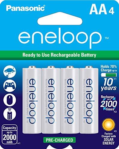 Amazon: 4 Baterías AA recargables Eneloop