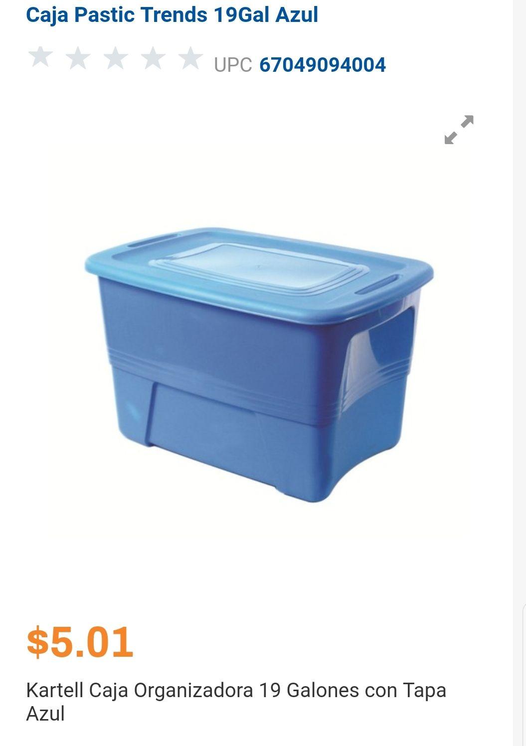Chedraui- Caja Organizadora 19 galones