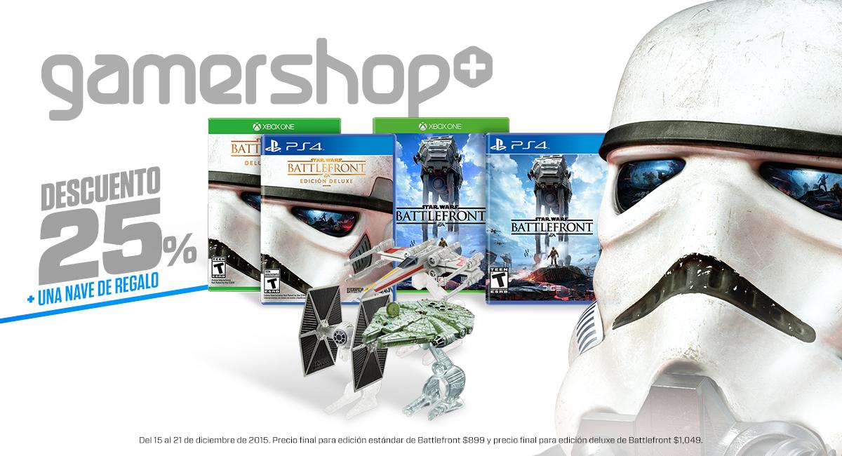 Gamers: 25% de descuento en Battlefront + nave de regalo