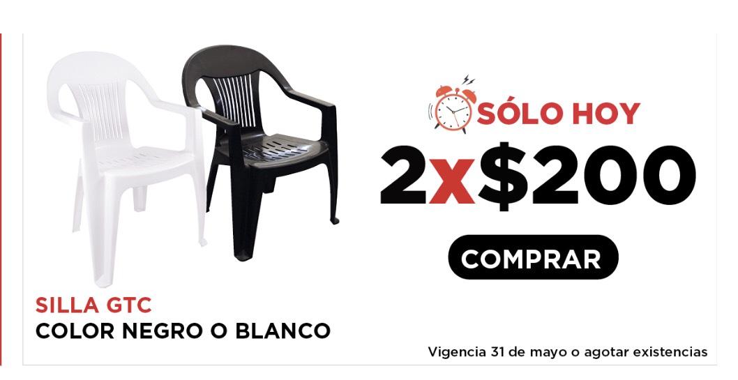 HEB 2 sillas por 200
