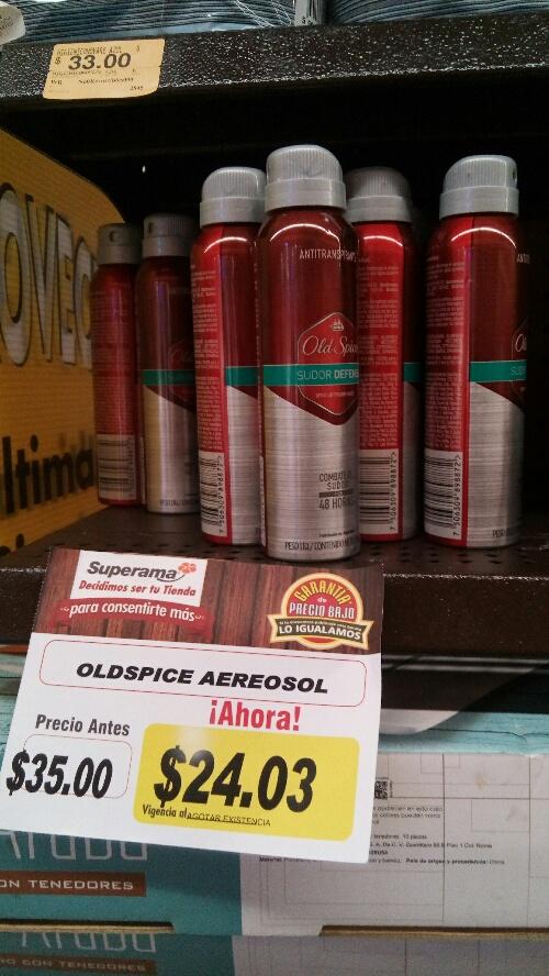 Superama: Desodorante en aerosol Old Spyce Sudor Defense $24.03