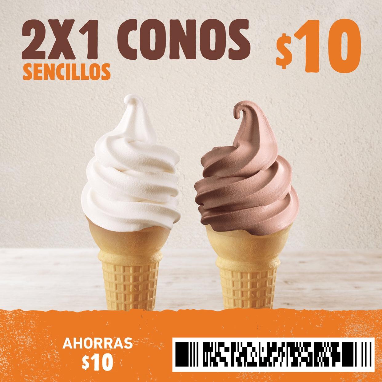 Burger King: 2x1 en Conos Sencillos