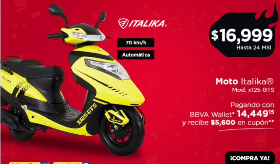 Hot sale Chedraui Italika x125gts
