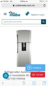 Outlet Mabe: Refrigerador GE 19 pies