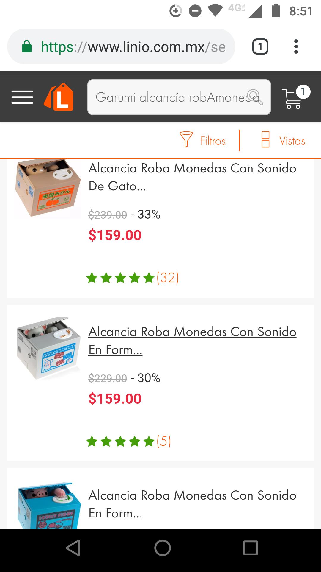 Linio: Varios modelos de alcancias Roba Monedas Con Sonido De Gato