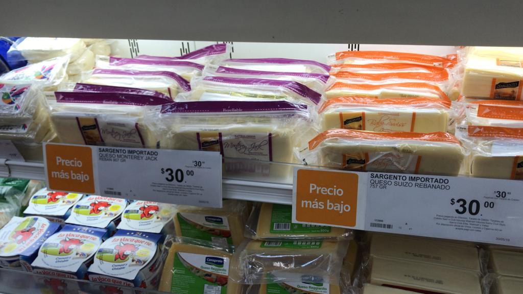 Sam´s Club: Queso rebanado Monterrey Jack de 907 gramos, queso suizo de 757 gramos y más...