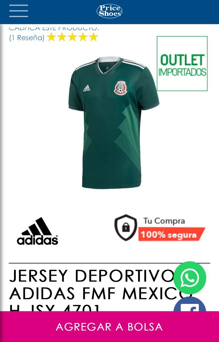 Price Shoes: Jersey Selección mexicana verde siendo socio)
