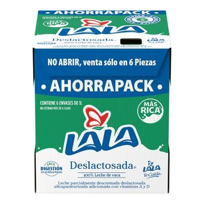 Walmart: Leche Lala Deslactosada 3cajas c/6 por $222.00 12.34xpza