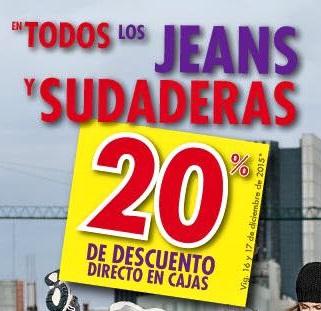 Suburbia: 20% de descuento en Jeans y Sudaderas