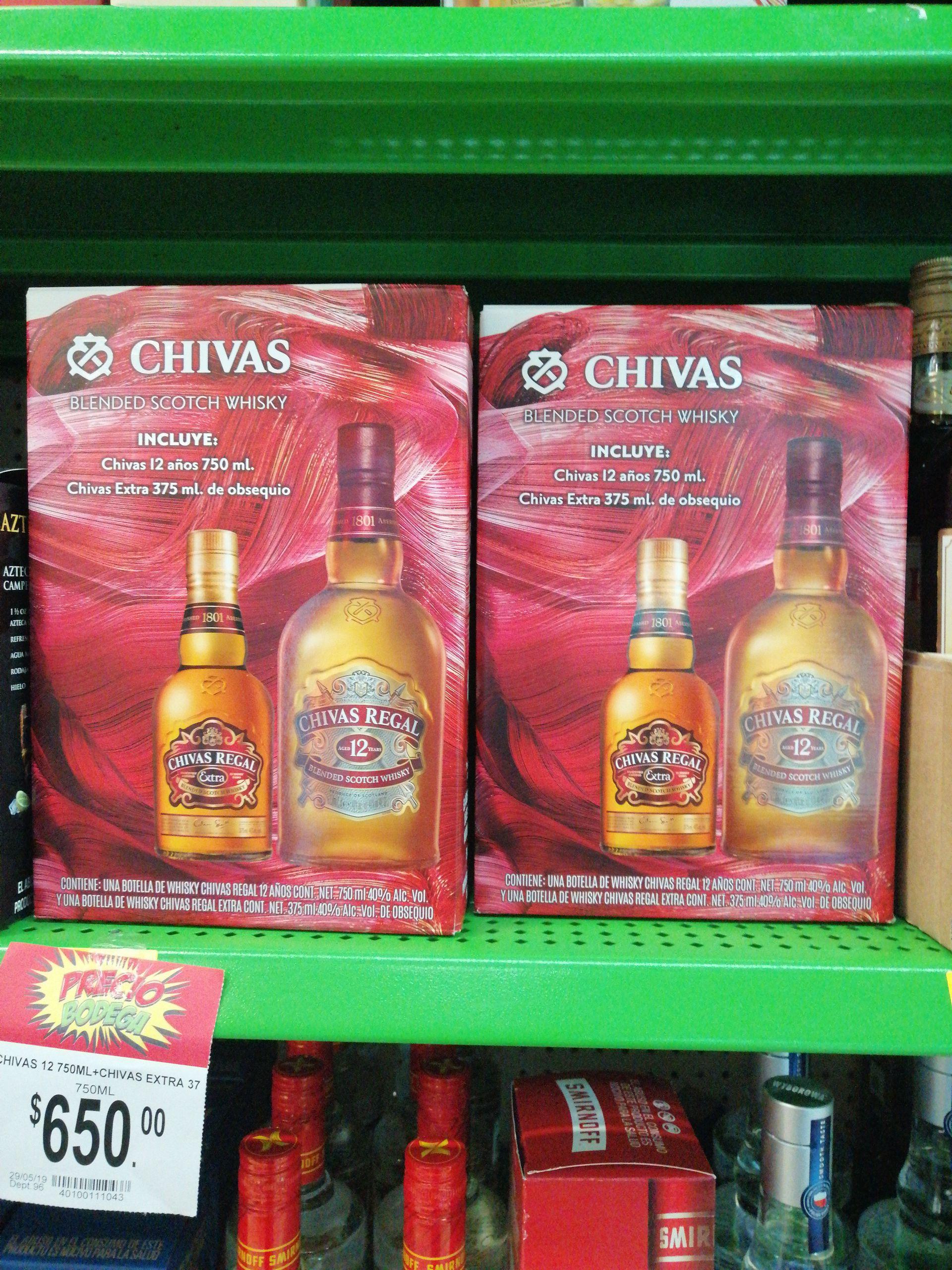 Bodega Aurrera: Chivas Regal 12 + Chivas extra