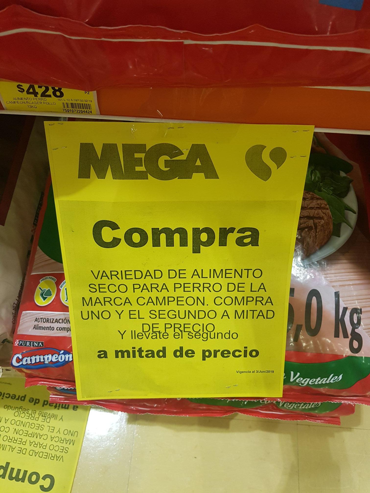 MEGA Soriana: Alimento Campeón a 2x1 y Jabón Ace compra uno y el otro a 1/2
