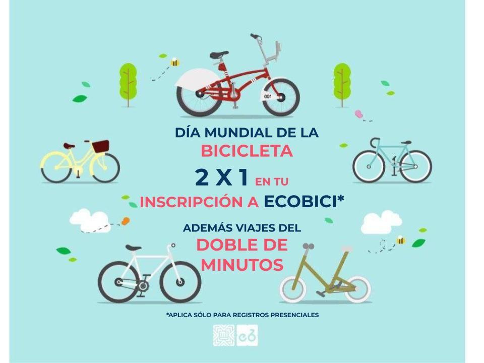 2x1 en inscripción anual de Ecobici