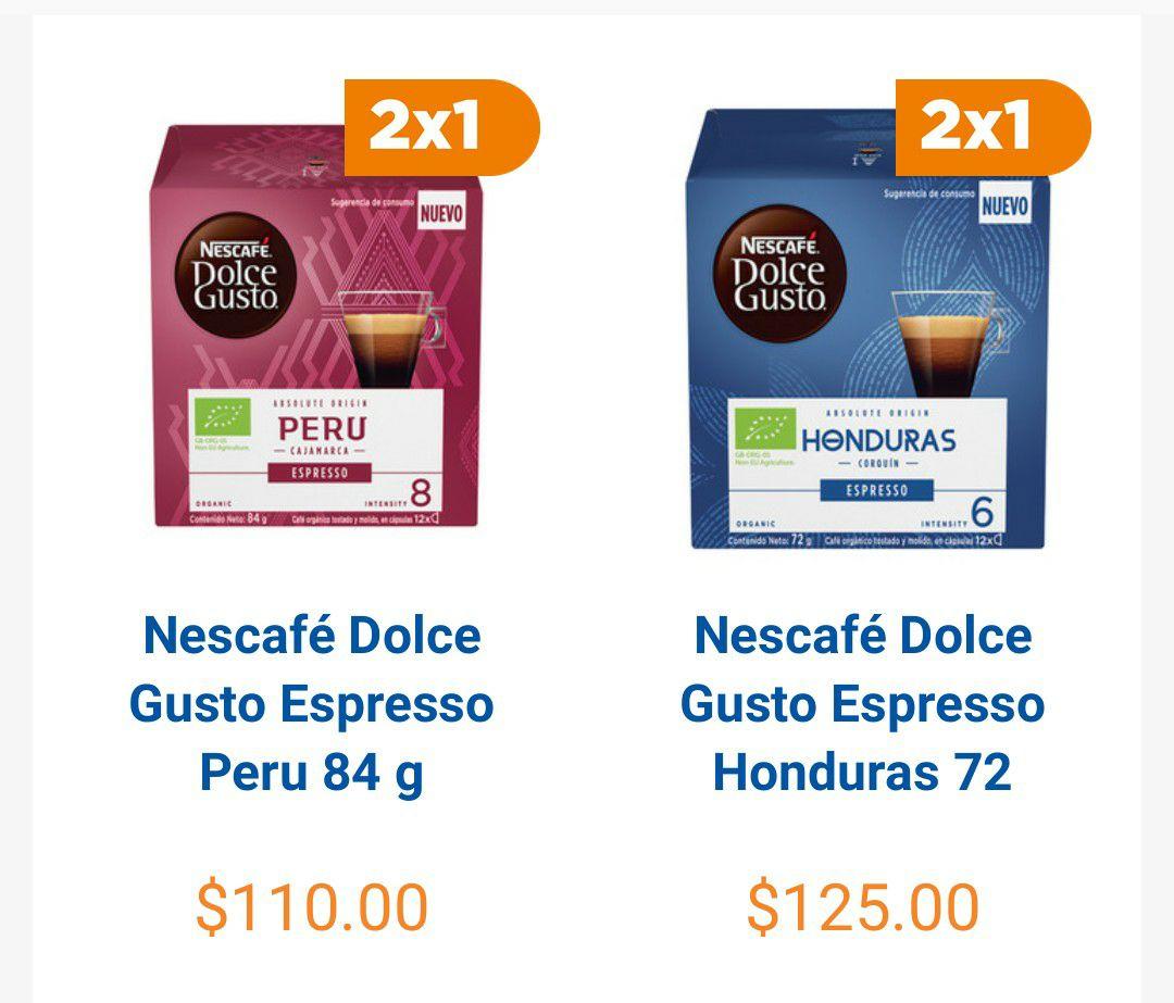 Chedraui en Línea: 2x1 en Cápsulas Dolce Gusto Espresso Perú y Honduras 12pz