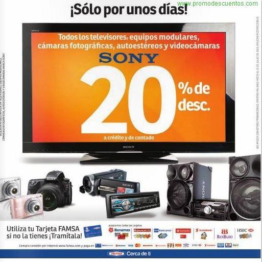 Famsa: 20% de descuento en marca Sony
