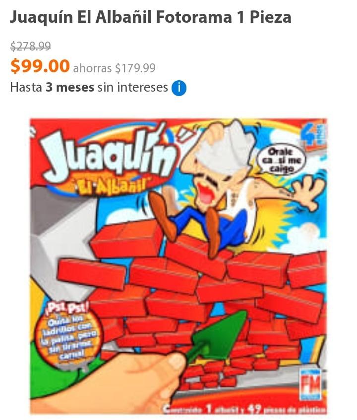 Walmart en línea: JOAQUÍN EL ALBAÑIL