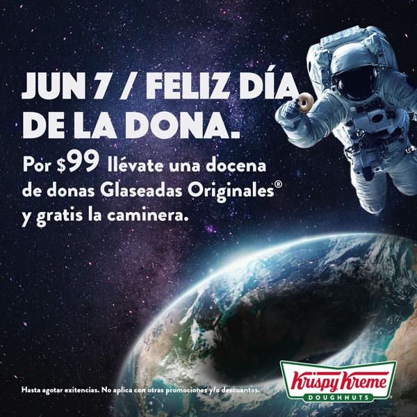Krispy Kreme: Dia de la Dona $99 Docena Glaseada Original y llévate la Caminera