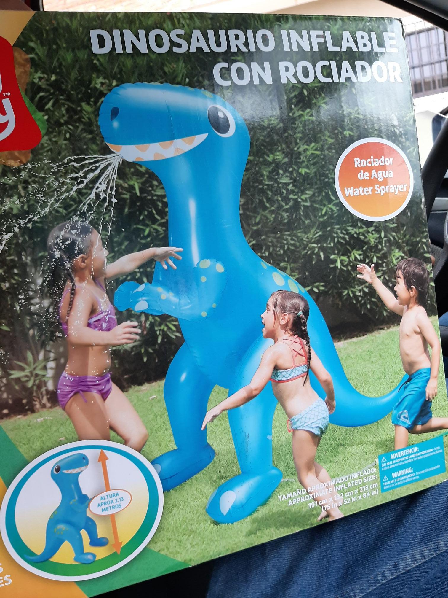 Walmart: Dinosaurio inflable ultima  liquidación