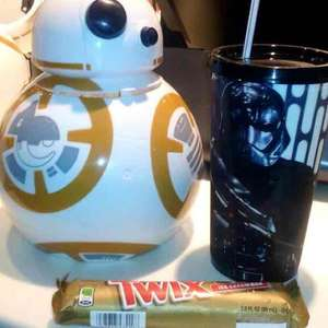 Cinemex: Combo Star Wars, BB8(palomero) + vaso + chocolate