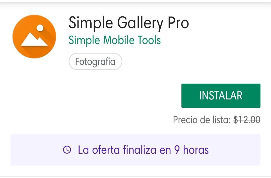 Google Play: Simple Gallery Pro Gratis