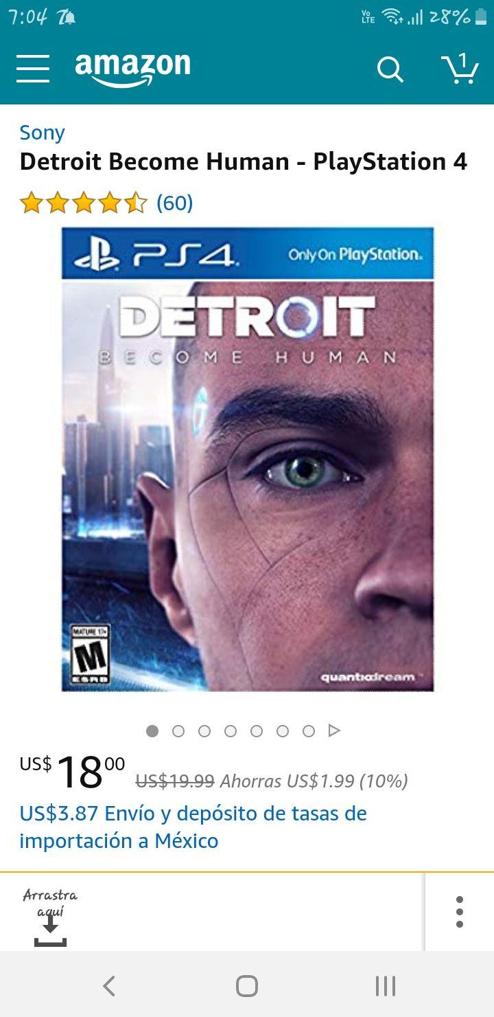 Amazon: Detroit Become Human (+$80 de envío)