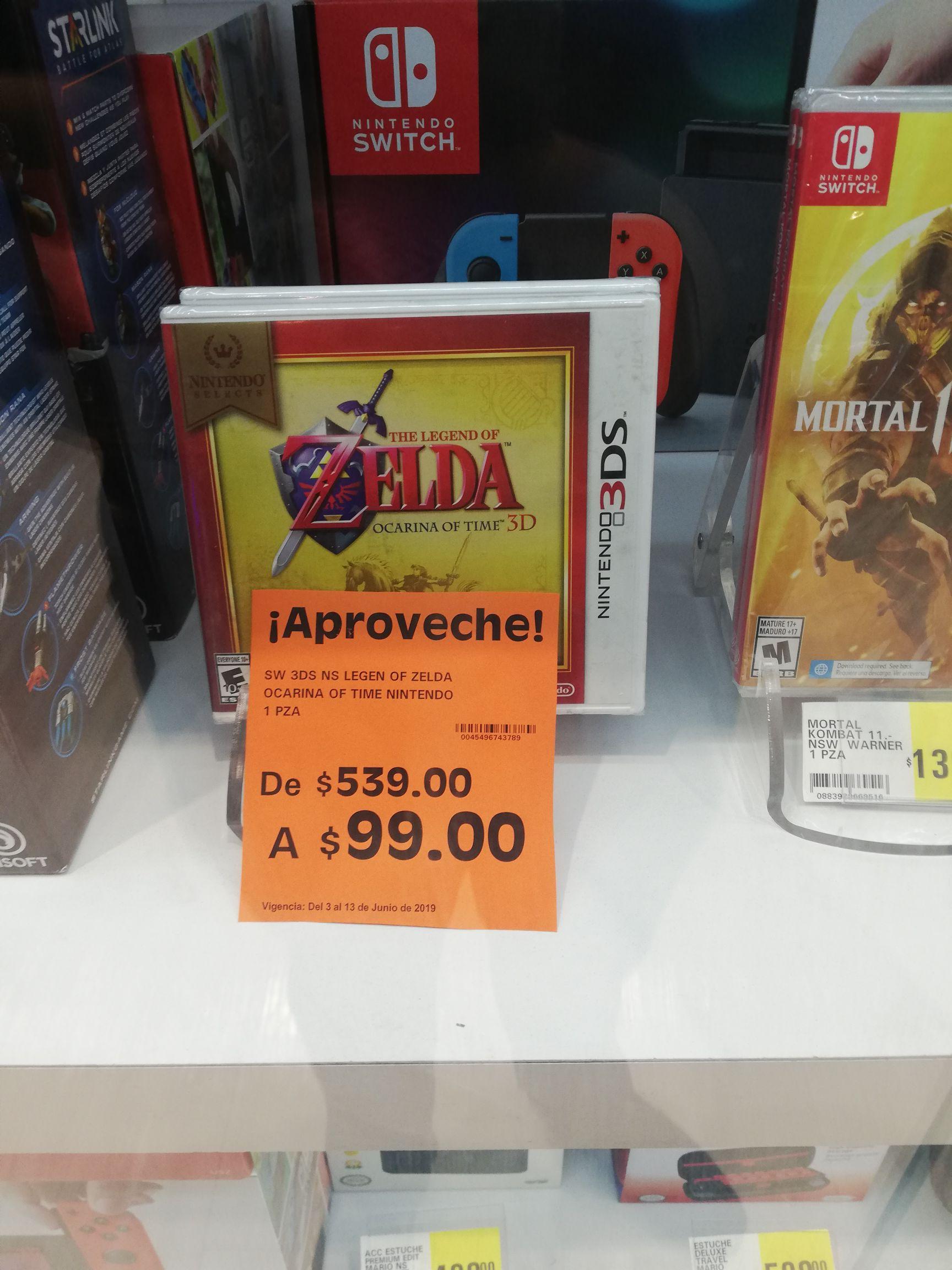 La comer Zelda ocarina of time Nintendo 3ds