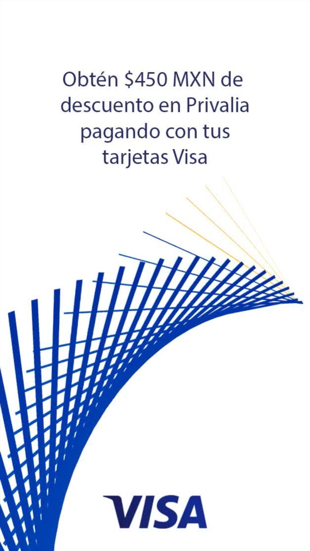 Privalia: $450 De Descuento Con VISA, compra mínima $1,200, usuarios nuevos