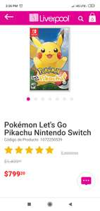 Liverpool: Let's Go Pikachu Switch Liverpool