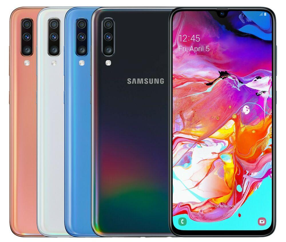"""ebay Samsung Galaxy A70 SM-A705FN/DS Dual Sim (FACTORY UNLOCKED) 6.7"""" 128GB 6GB RAM"""