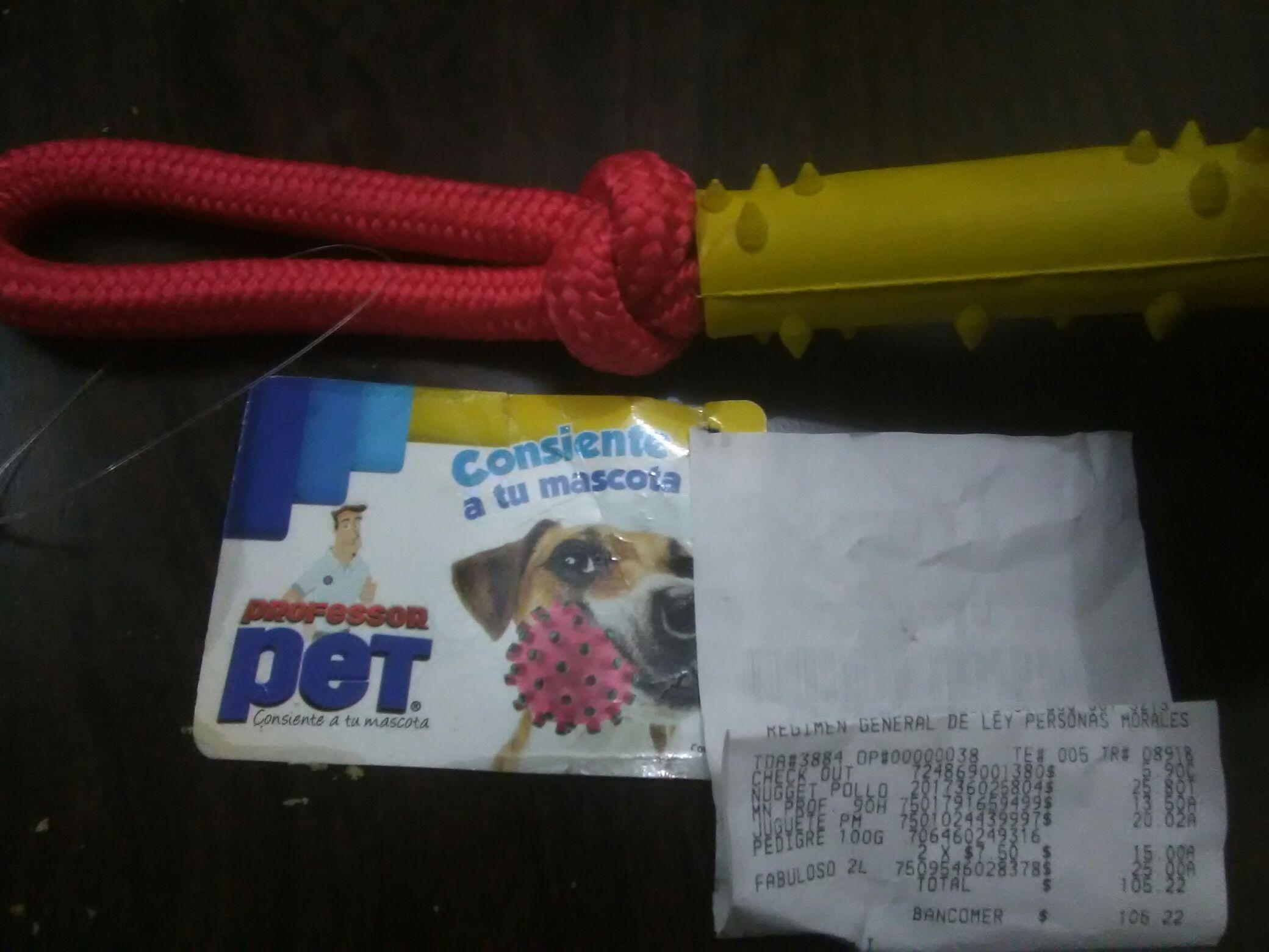 Bodega Aurrera: Juguetes para mascota perro profesor PET