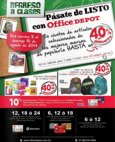 Office Depot: hasta 40% de descuento en artículos seleccionados de papelería