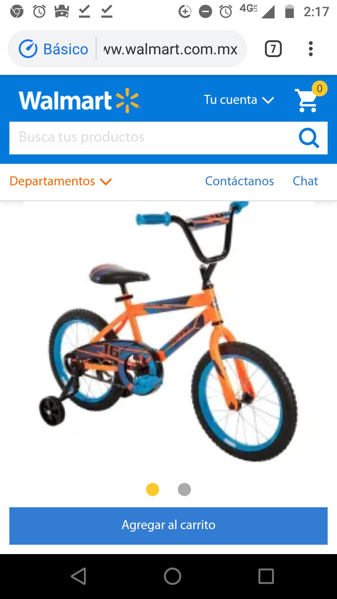 Walmart: Bicicleta Huffy Pro Thunder Rodada 16