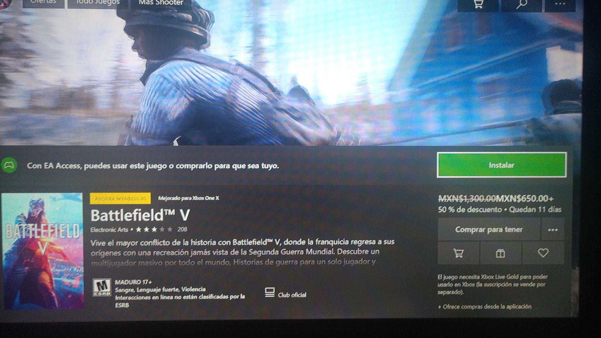 Xbox: Battlefield V ya incluido en el baúl para suscriptores de EA Access