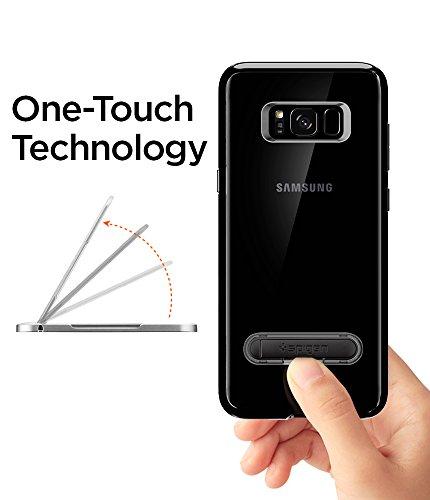 Amazon Spigen Galaxy S8 Funda, Ultra Hybrid S - Tecnología de cojín de Aire y Soporte metálico magnético para Samsung Galaxy S8 Jet Black