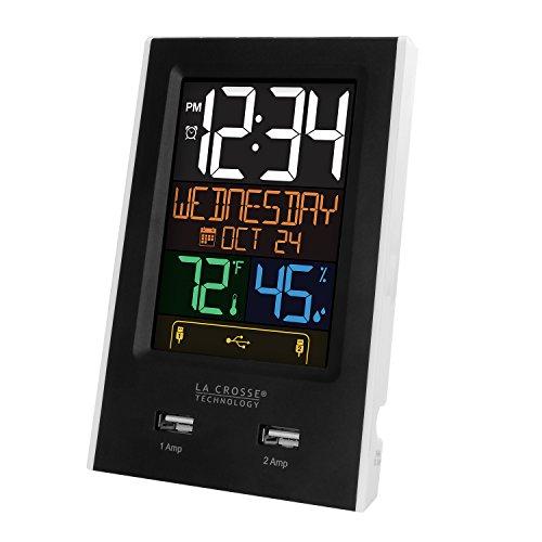 Amazon: Cargador USB indicador carga y termòmetro e higrómetro