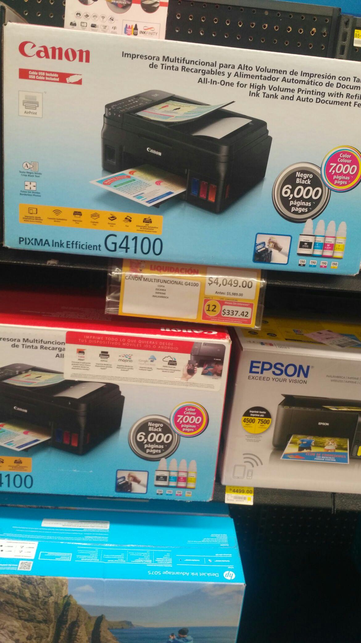 Walmart: Última liquidación de impresora Canon g4100 y iPhone 8y más