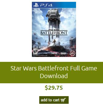 Game Daily: Código para descarga de STAR WARS BATTLEFRONT PS4