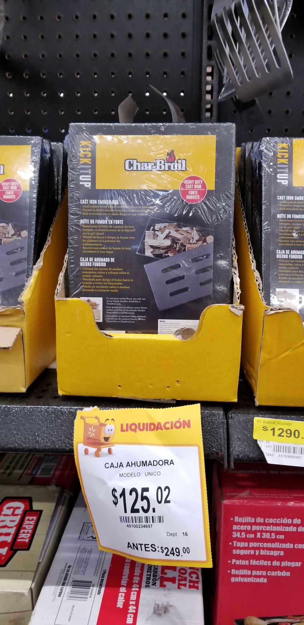 Walmart: Caja ahumadora y canastillas
