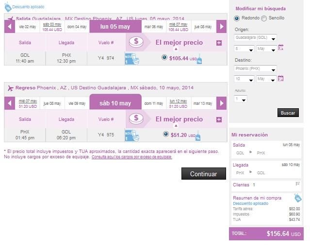 Volaris: 70% de descuento para viajar en mayo 2014