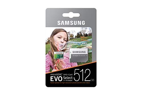 Amazon: Memoria 512 GB MicroSd Samsung Evo Select