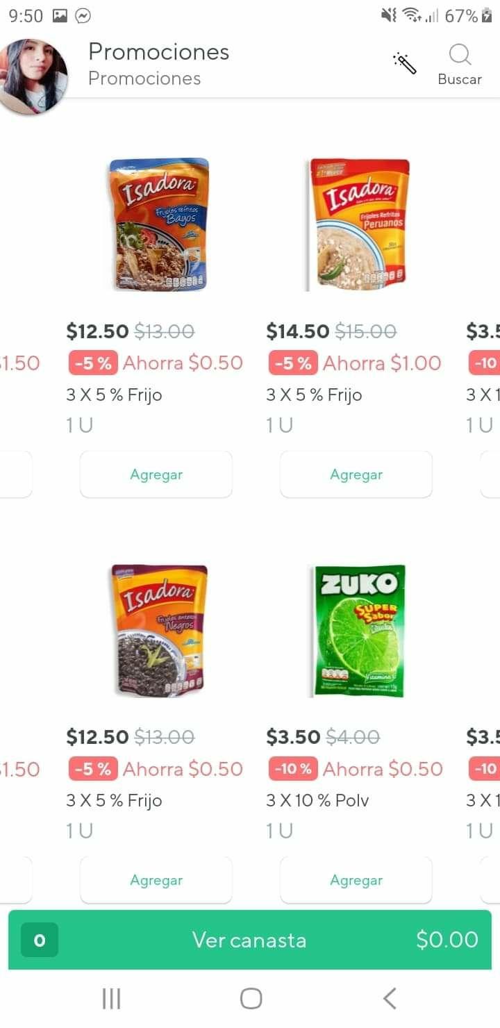 Rappi Walmart combos al precio de una pieza