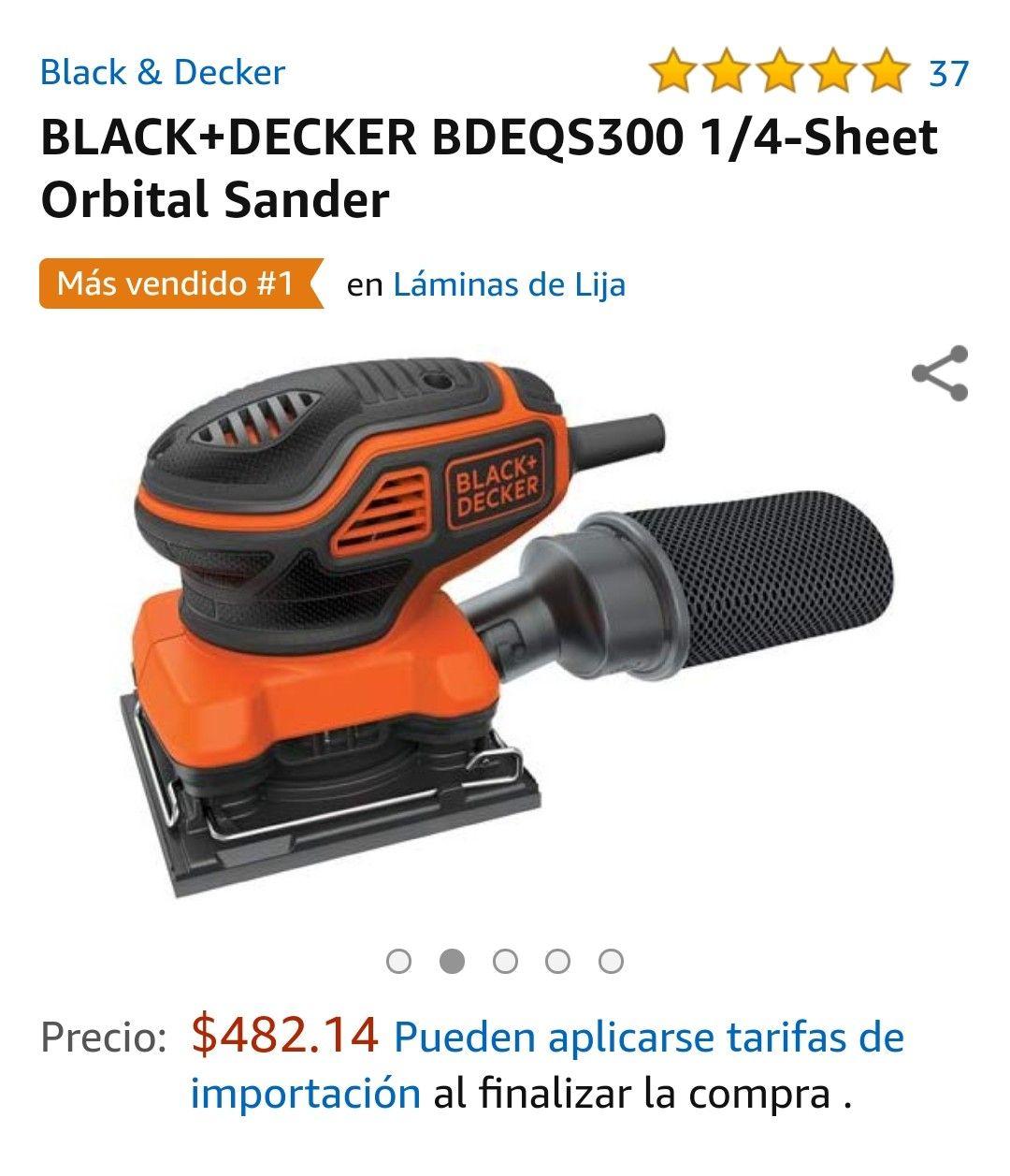 Amazon Lijadora orbital BLACK+DECKER BDEQS300