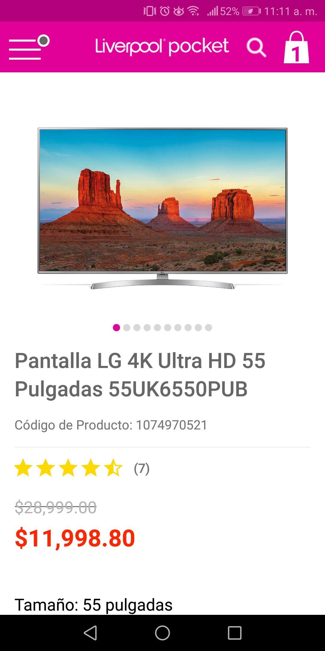 Liverpool: LG TV 55UK6550 + Barra SK1