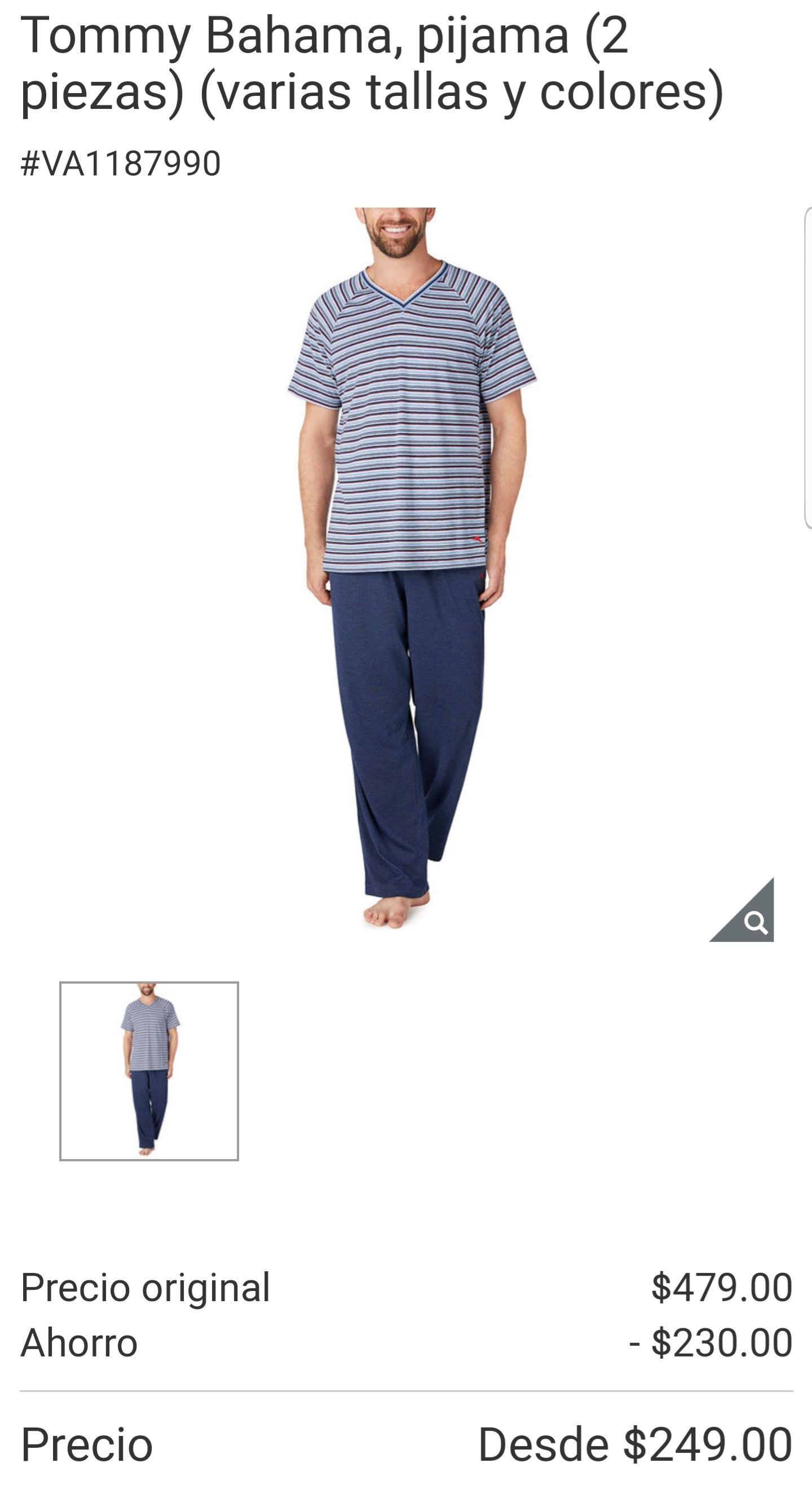 Costco. Pijama para caballero