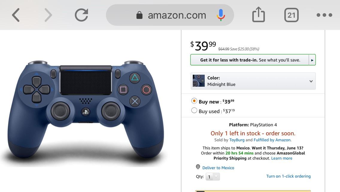 Amazon USA: Dualshock 4