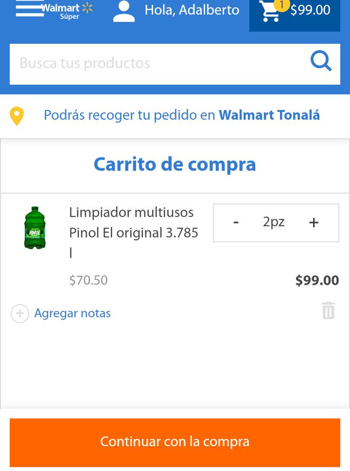 Walmart: Pinol 3.78