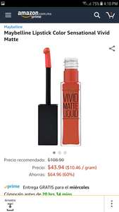 Amazon: Maybelline Lipstick Color Sensational Vivid Matte