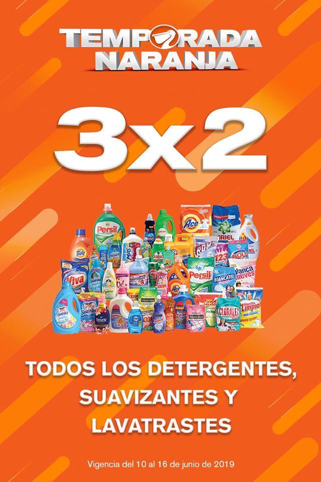 Temporada Naranja 2019 en La Comer y Fresko: 3x2 en Todos los Detergentes, Lavatrastes y Suavizantes