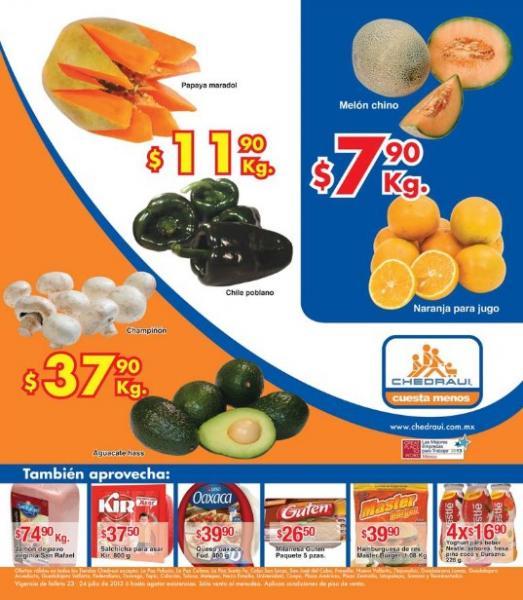 Miércoles de Chedraui julio 24: sandía $5.50, tomate verde $5.90 y más