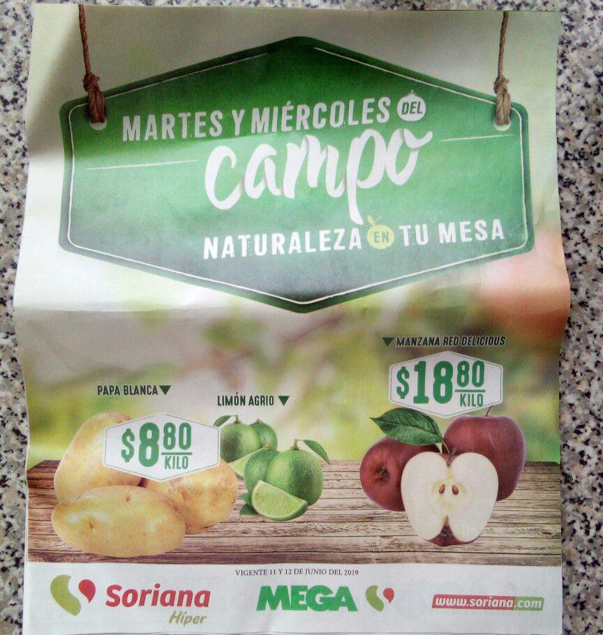Folleto Martes y Miércoles del Campo de Soriana Híper y Mega